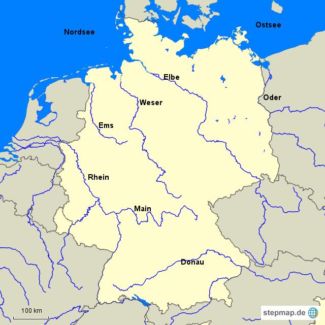 fl252sse deutschland von pitufo landkarte f252r deutschland