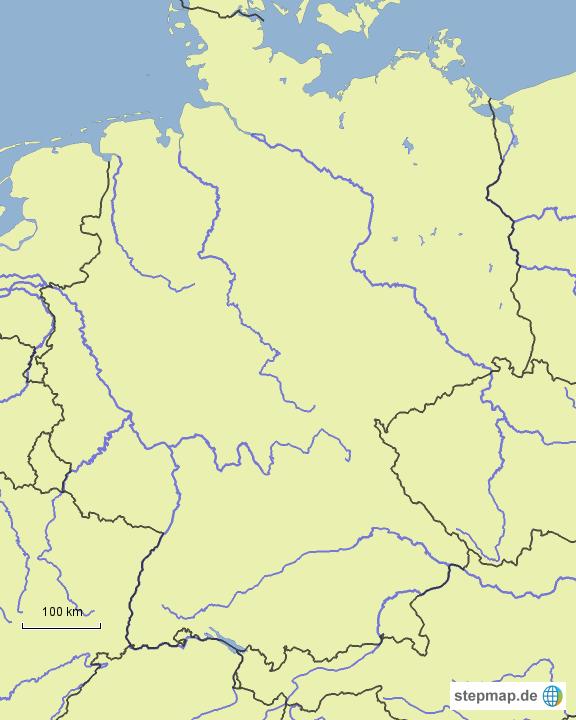 fl sse deutschlands von seeet landkarte f r deutschland. Black Bedroom Furniture Sets. Home Design Ideas