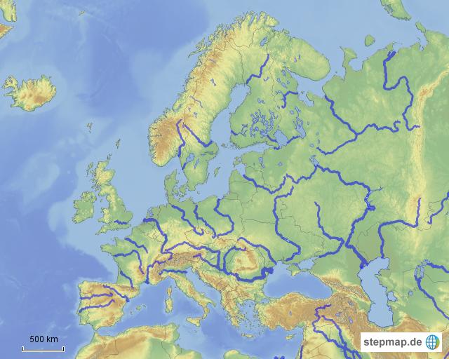 fluesse europas von billbeller landkarte f252r deutschland