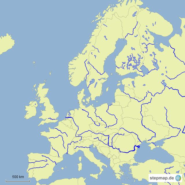 Welt europa deutschland deutschland karten flüsse in europa