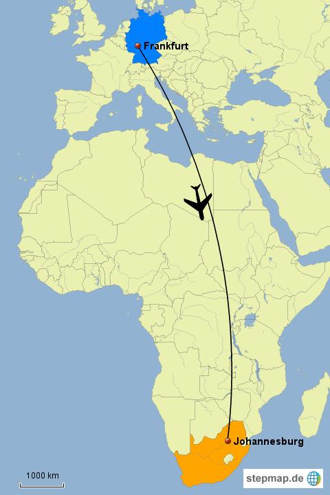 Flug Johannesburg Frankfurt