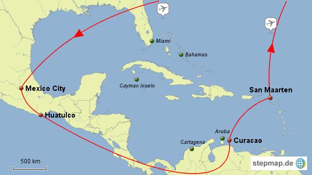 Karibik Karte Welt.Mexiko Karibik Karte Kleve Landkarte