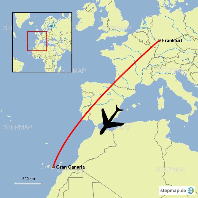 Briefe Nach Gran Canaria : Flug nach grancanaria von boemmsbua landkarte für