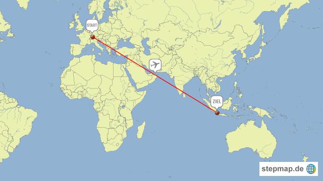 Flug nach Indonesien von tm789 - Landkarte fu00fcr die Welt
