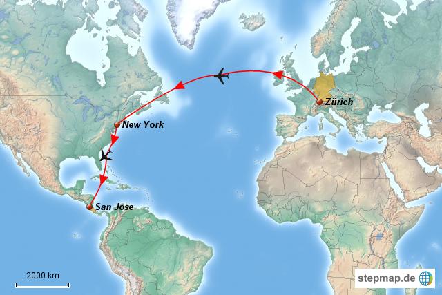 flug schweiz costa rica jovi landkarte f 252 r die welt