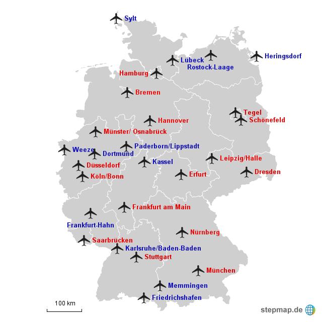 Flughafen Deutschland Größe