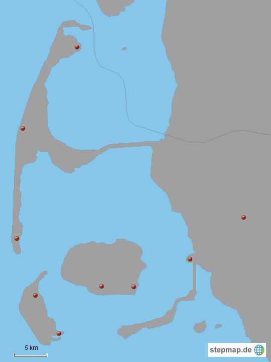 Karte Sylt Amrum.Föhr Amrum Sylt Von Die Steffi Landkarte Für Deutschland