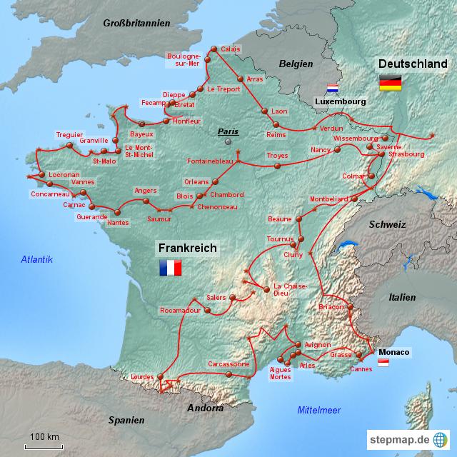 Deutschland Frankreich Karte.Frankreich Von Logekwh Landkarte Für Deutschland