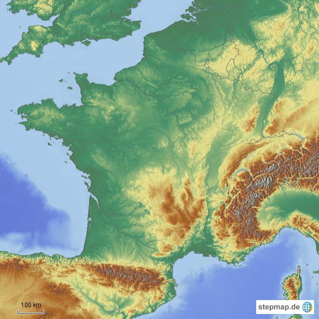 Landkarten welt europa frankreich frankreich karten frankreich gebirge
