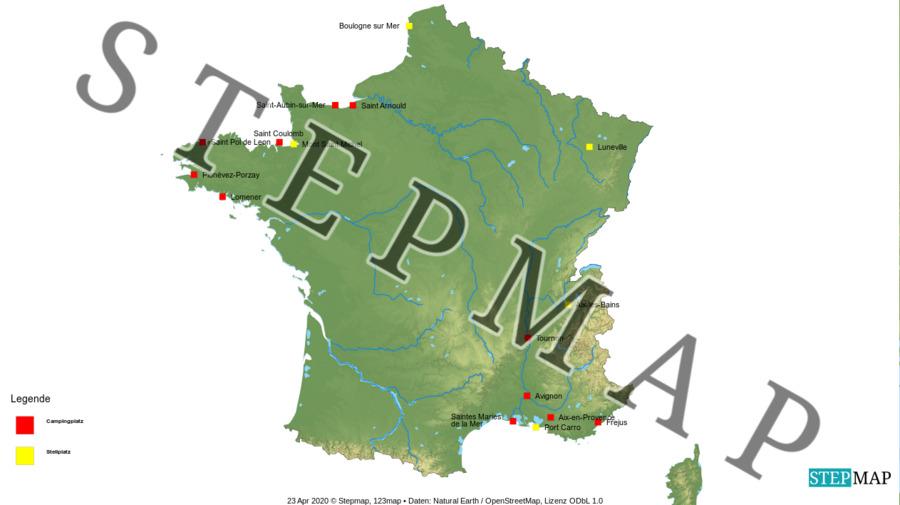 Landkarte: Frankreich I
