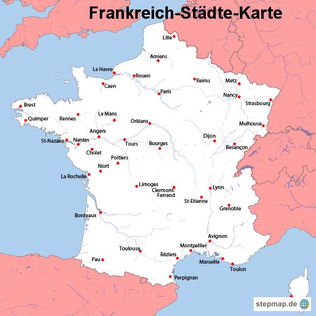 FRANKREICH KARTE | Dictionary Bank FRANKREICH KARTE