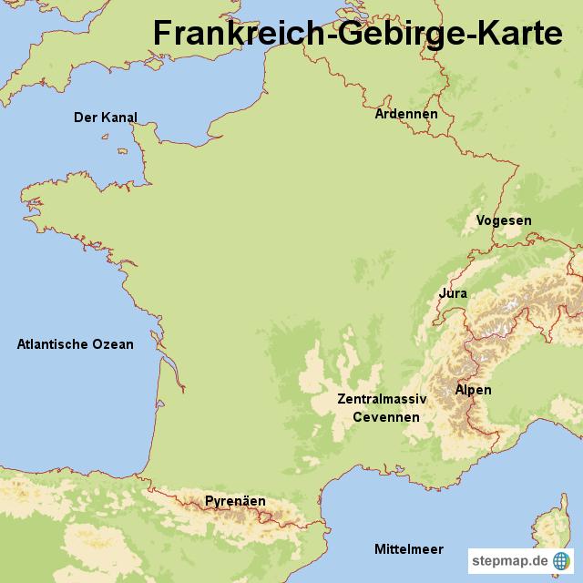 Cevennen Karte.Frankreich Berge Karte Filmgroephetaccent