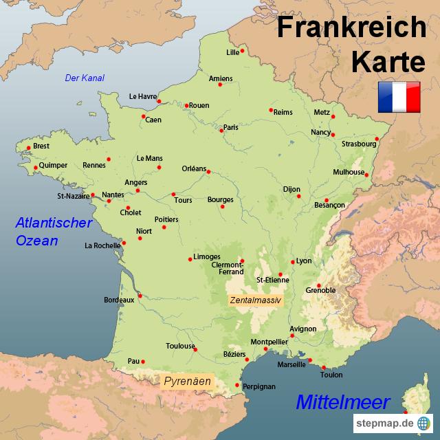Landkarten welt europa frankreich frankreich karten frankreich karte