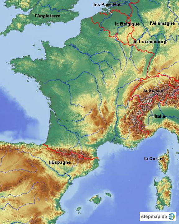 Landkarten welt europa frankreich frankreich karten frankreich länder
