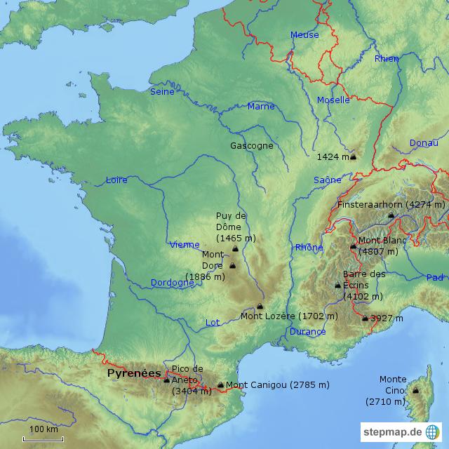 Landkarten welt europa frankreich frankreich karten frankreich