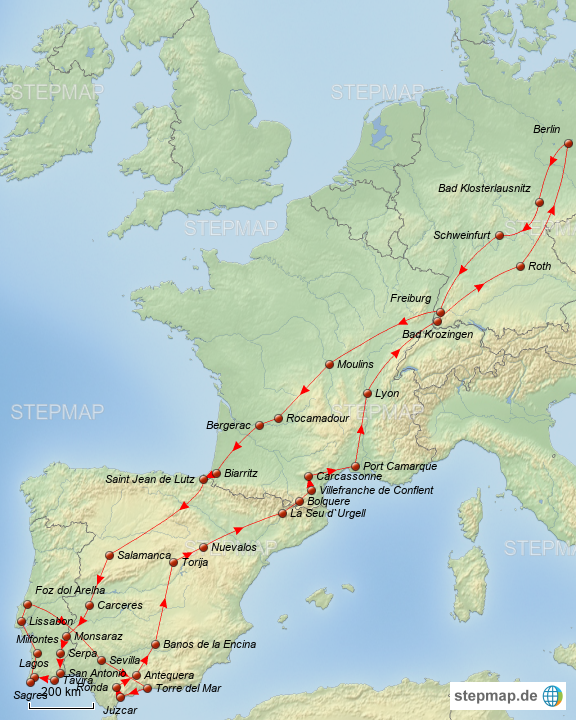 landkarte deutschland frankreich spanien Frankreich Spanien Portugal von betsivon   Landkarte für Deutschland