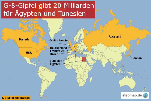 Weltkarte Tunesien