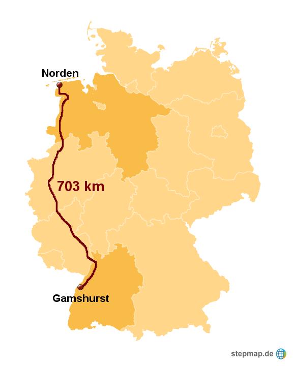 gamshurst norden von manu 2799 landkarte f r deutschland. Black Bedroom Furniture Sets. Home Design Ideas