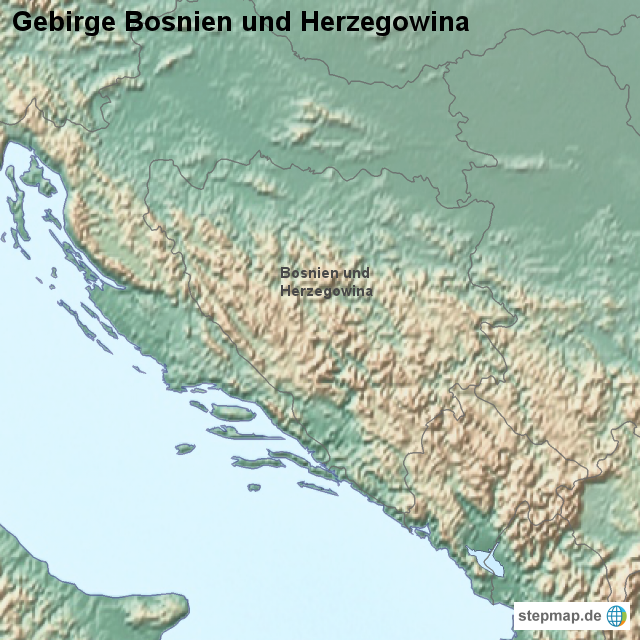 Gebirge bosnien und herzegowina
