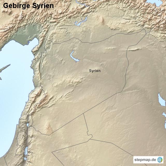Syrien gebirge syrien