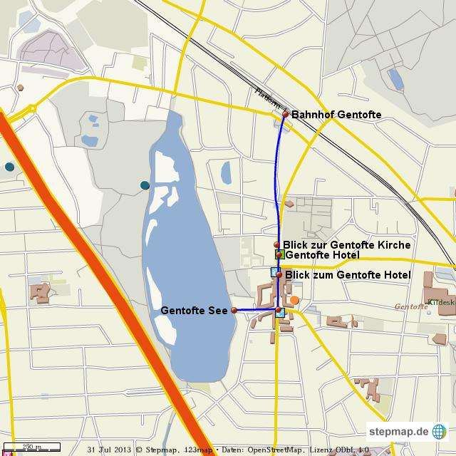 Gentofte von AnkaSchm - Landkarte für die Welt