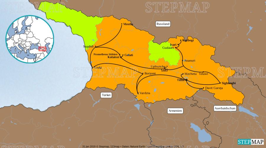 Landkarte: Georgien
