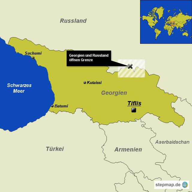 Georgien und russland öffnen grenze