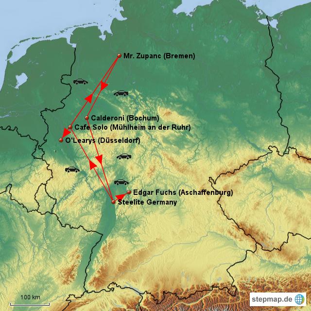 Germany Trip Map von iankovas - Landkarte für Deutschland