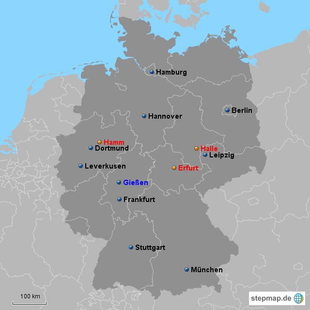 Gießen Karte Deutschland