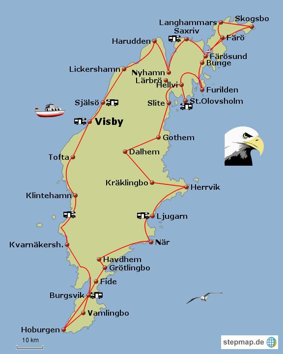 gotland karte StepMap   gotland schweden   Landkarte für Deutschland