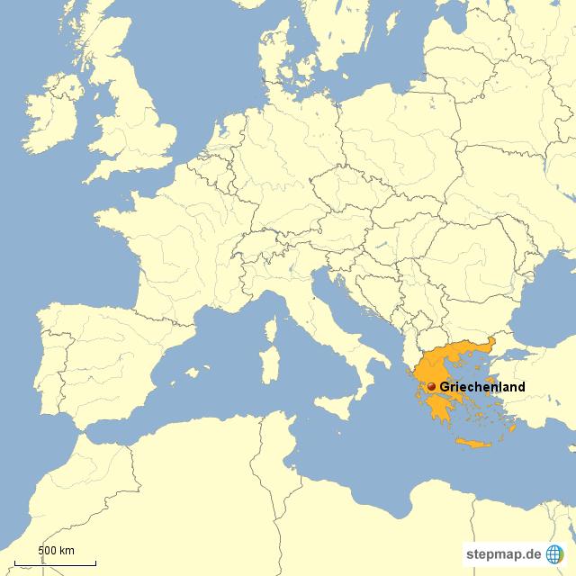 Griechenland Karte Europa | Weltkarte Lander