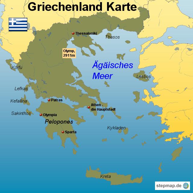 ROTEL - Griechenland von dagmarbraunschweig - Landkarte fur ...