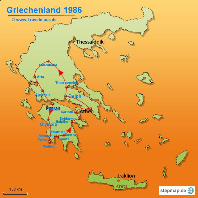 Europa griechenland griechenland karten griechenland rundreise 1986
