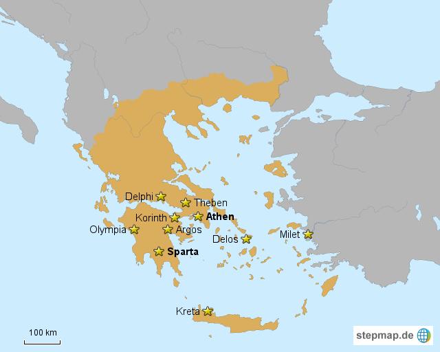Griechische Stadtstaaten von CaroLine81 - Landkarte für
