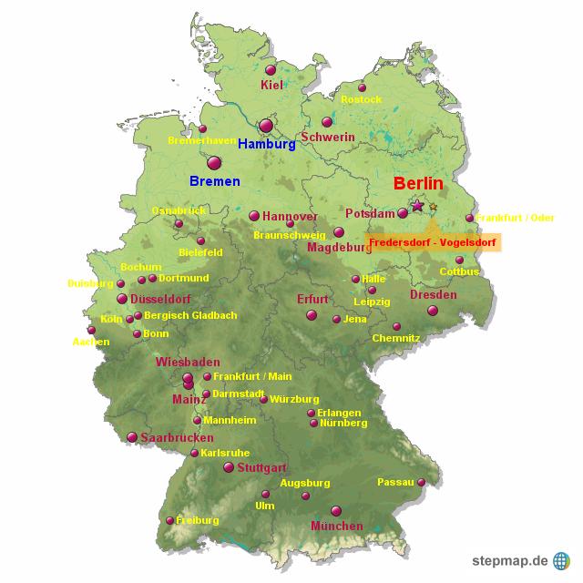 Bundesländer Karte Ohne Namen.Großstädte Von Rocky Landkarte Für Deutschland Alle Bundesländer