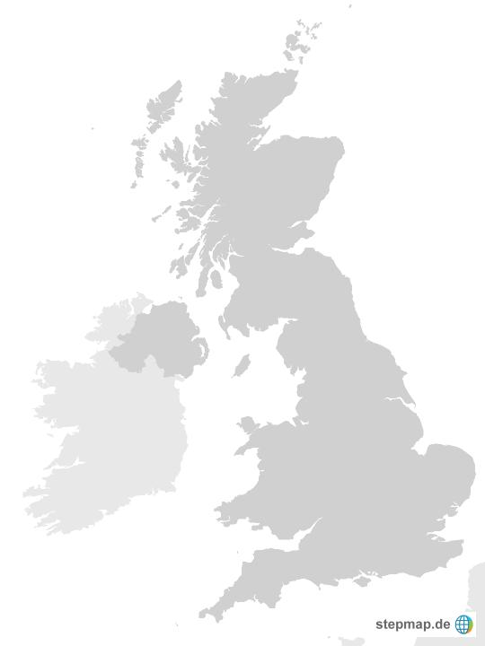 Großbritannien Karte Umriss.Großbritannien Von Stefanz Landkarte Für Das Vereinigtes Königreich