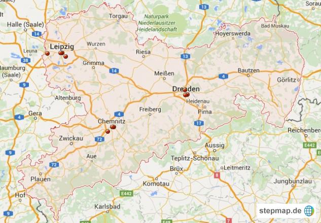Möbelgeschäfte deutschland  Große Möbelgeschäfte in Sachsen von Maschukasyj - Landkarte für ...