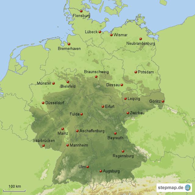 gro e st dte in deutschland teil 2 von maxi76 landkarte f r deutschland alle bundesl nder. Black Bedroom Furniture Sets. Home Design Ideas