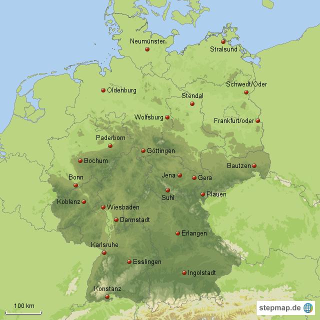 gro e st dte in deutschland teil 3 von maxi76 landkarte f r deutschland alle bundesl nder. Black Bedroom Furniture Sets. Home Design Ideas