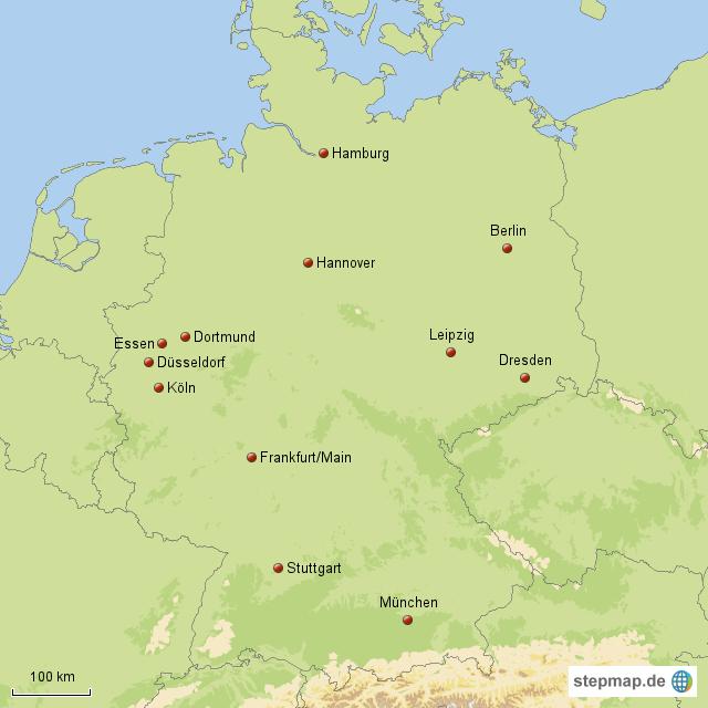 gro e st dte mit vielf ltigen einkaufsm glichkeiten von maxi76 landkarte f r deutschland. Black Bedroom Furniture Sets. Home Design Ideas