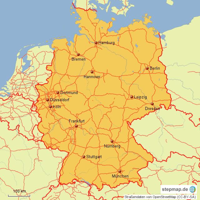 gro e st dte und metropolen in deutschland von maxi76 landkarte f r deutschland. Black Bedroom Furniture Sets. Home Design Ideas