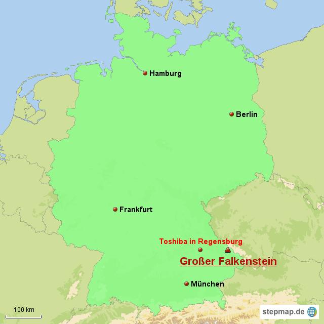 Isar Fluss Karte.Großer Falkenstein Von Itono Landkarte Für Deutschland