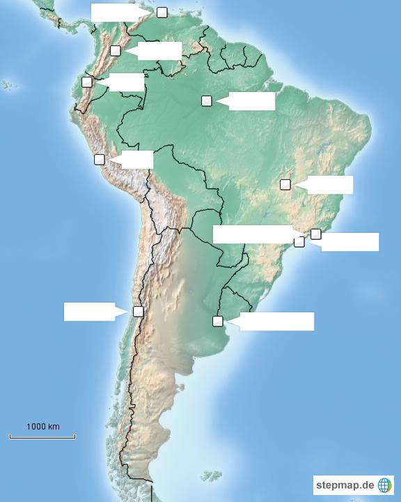 Südamerika Karte Ohne Beschriftung.Großstädte Südamerikas Ohne Beschriftung Von Elch011 Landkarte Für