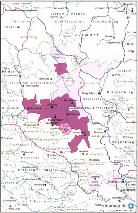 Grundkarte Bm Halberstadt Von Christophersen Landkarte Fur
