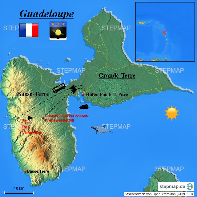 guadeloupe karte Landkarte Guadeloupe | hanzeontwerpfabriek