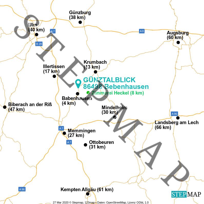 Landkarte: Günztalblick Bebenhausen