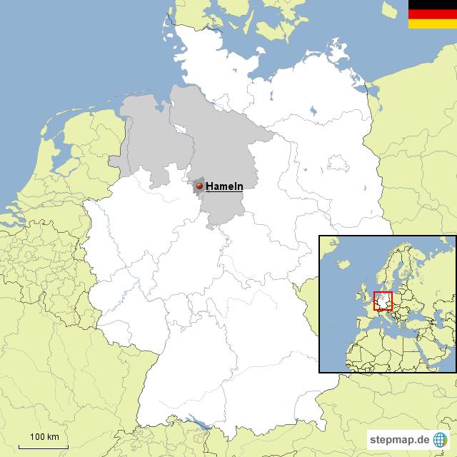 Hameln Karte.Hameln Von Harmen Landkarte Für Niedersachsen