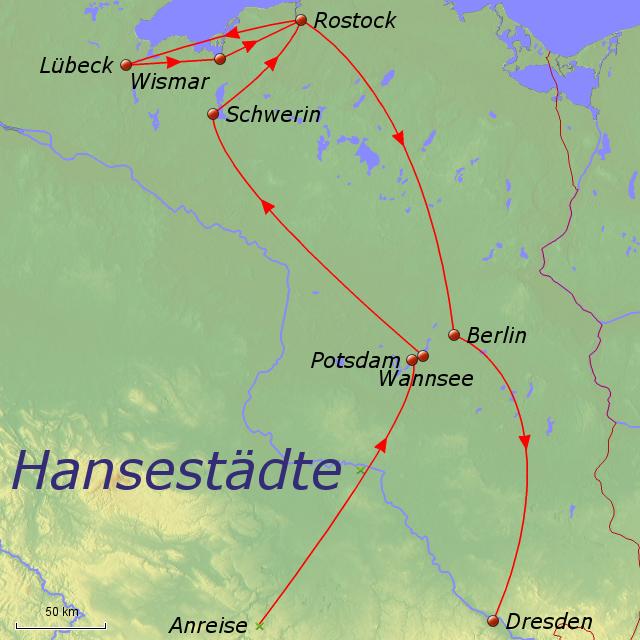 hansestädte deutschland karte Hansestädte von Debenjak   Landkarte für Deutschland