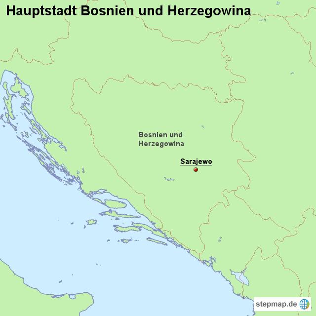 hauptstadt bosnien und herzegowina von l nderkarte landkarte f r bosnien und herzegowina. Black Bedroom Furniture Sets. Home Design Ideas