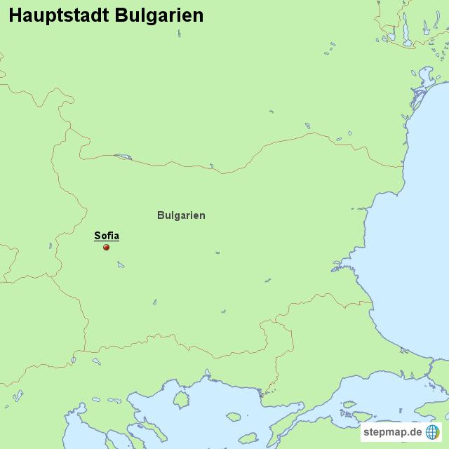 hauptstadt bulgarien von l nderkarte landkarte f r bulgarien. Black Bedroom Furniture Sets. Home Design Ideas